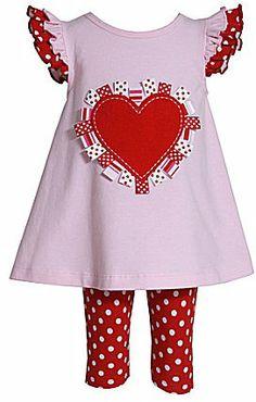 Bonnie Jean 2T-4T Valentine Dress & Leggings Set on shopstyle.com