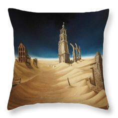 "Amsterdam Desert Throw Pillow by Tobias De Haan.  Our throw pillows are made from 100% spun polyester poplin fabric and add a stylish statement to any room.  Pillows are available in sizes from 14"" x 14"" up to 26"" x 26"".  Each pillow is printed on both sides (same image) and includes a concealed zipper and removable insert (if selected) for easy cleaning."