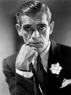Boris Karloff, 1930s sans makeup.(1887-1969) - English actor, best remembered for his roles in horror films and his portrayal of Frankenstein's monster.