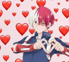 A mysterious Quirk made you look like … - Wholesome Memes Anime W, Anime Kawaii, Anime Guys, Anime Meme Face, Heart Meme, Cute Love Memes, My Hero Academia Shouto, Cute Girl Pic, Wholesome Memes