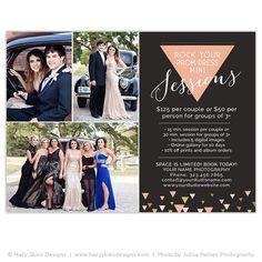 Prom Mini Session Marketing Template, Mini Prom Session – Photoshop Templates for Photographers, Photography Marketing Templates, Photo Card Templates, Album Templates & more! – Hazy Skies Designs, LLC