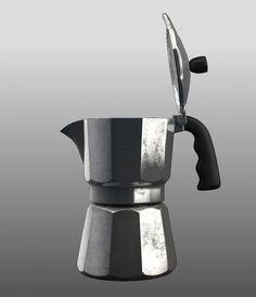 Old Moka Pot 3D Model - 3D Model