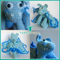 my new dragon in light blue #turkizfonal #dragon