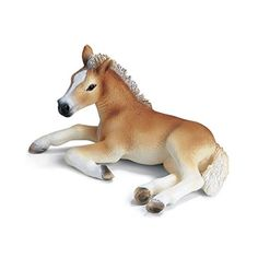 Schleich Haflinger Lying Foal *** This is an Amazon Affiliate link. See this great product.