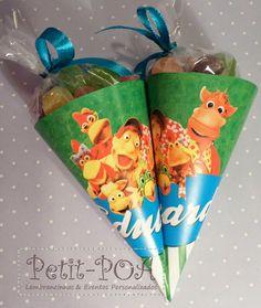 Cones comm Balas de Goma. Cocoricó . Petit POA - Eventos & Lembrancinhas Personalizadas