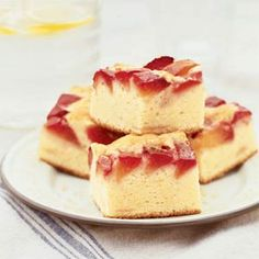 Plum Buckle Recipe - made in small spring form - liked in the office
