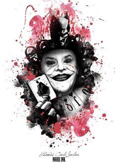 Awesome Batman An Joker Tattoo Artwork iPhone Wallpaper - Tattoo MAG Joker Tattoos, Body Art Tattoos, Cool Tattoos, Tatoos, Tattoo Trash, Trash Polka Tattoo, Der Joker, Joker Art, Iphone Wallpaper Tattoo