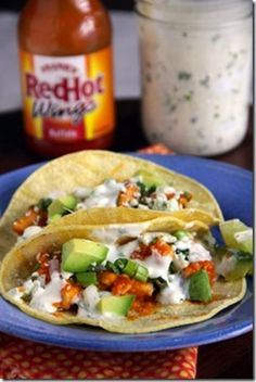 Buffalo Chicken Tacos | 20 Buffalo Chicken Recipes You Need To Try Right Now
