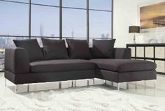 Amazon.com: Homelegance 9615 2-Piece Sectional Sofa Chaise, Charcoal Linen: Home & Kitchen