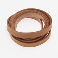 10 mm natur fladt læder, 120 cm, 1 stk.