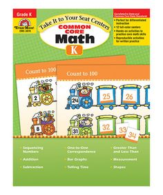 Another great find on #zulily! Common Core Math Centers Kindergarten Paperback…