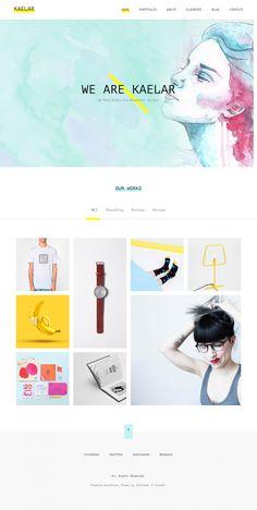 Kaelar – Portfolio / Agency Theme