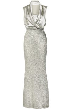 Draped silk-satin gown £3,490
