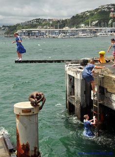 Girls celebrating the end of the school year in Wellington, New Zealand