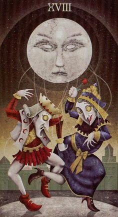 DM- XVIII - The Moon (Tarot Card)