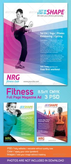 Gym / Fitness Flyer Print Ad | Flyer printing and Gym fitness
