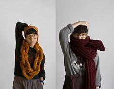 Chunky Knitted fashions by Yokoo