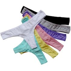 ba5937385e Pack of 7 Underwears Women 2017 Sexy Cotton Briefs Thongs And G String  Low-Rise Underpants Weekly Underwear Gift Package