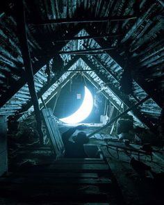 Leonid Tishkov The sky is near. Open the attic and you'll see there next to the wasp nest rings the blinding light of the lost moon