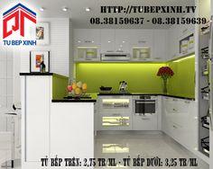 Tủ bếp hiện đại với thiết kế hình chữ U kết hợp quầy bar đi kèm tạo nên một tủ bếp đẹp, sang trọng và đầy tiện dụng cho người sử dụng. Không gian bếp nhỏ nhưng không làm mất tính thẩm mỹ của tủ bếp. Bên cạnh đó việc sử dụng chất liệu Acrylic giúp phòng bếp thêm hiện đại và phong cách.