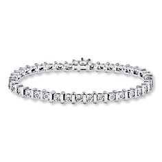 Diamond Bracelet 1/2 ct tw Round-cut Sterling Silver