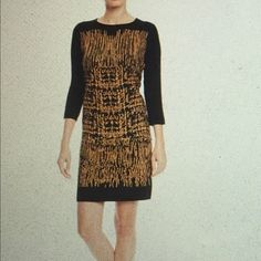 Spense sweater dress Spense printed sweater dress in black/dusty bronze. Spense Dresses