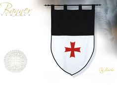 NobleWares Image of Templar Knight Banners MF1527 and MF1527.1 by Marto of Spain