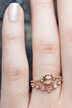 Rose gold engagement rings have a feminine and romantic look. These rings is a fantastic choice for people with warm and cooler skin tones. You'll like it!