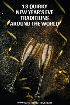 Ring in the New Year with these fun and quirky New Year's Eve traditions from around the world. New Years Eve Traditions, Family Traditions, New Year's Eve Around The World, Around The Worlds, Health Desserts, Baking Desserts, Cupcake Cakes, Rose Cupcake, Eve Game