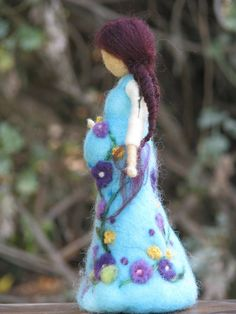 Being mother....soon,needle felted doll, waldorf inspired. via Etsy.: