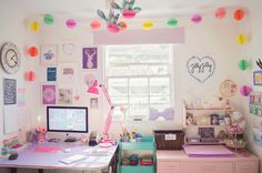 14 | my happy place | our colourful studio with new pompon garland!