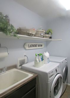 I am thrilled to share with you our new and improved laundry room! We have been wanting to give our laundry room a makeover for a long time now, and finally jus…