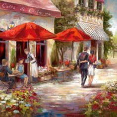 Café Afternoon I Prints by Nan at AllPosters.com