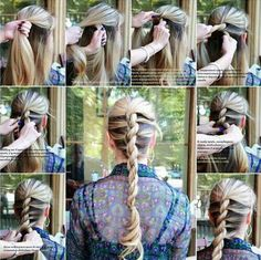 How to DIY Twisted Rope Braided hairstyle Pretty Hairstyles, Braided Hairstyles, Easy Hairstyle, Short Hairstyles, Wedding Hairstyles, Easy Updo, Natural Hair Styles, Long Hair Styles, Great Hair