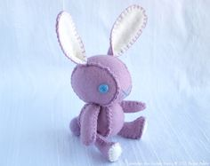 Lavender the Easter Bunny Wool Felt Designer Plush Doll, Seasonal by nonesuchgarden $75.00
