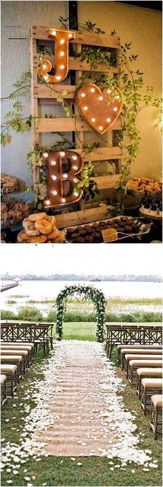 25 Must See Drop-dead Rustic Wedding Ideas . - 25 Must See Drop-dead Rustic Wedd Wedding Ceremony Ideas, Wedding Themes, Wedding Venues, Wedding Dresses, Wedding Reception, Garden Party Wedding, Diy Wedding, Wedding Tips, Perfect Wedding