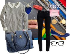 """back to school"" by jowaisa on Polyvore"