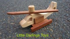 Handmade by David at Little Darlings Toys  Small Helicopter. Under $10 Market Night opens at 9pm, on Tuesday 8th April, 2014