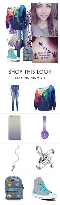 """New Girl Has Strange Style"" by infinite-exo-girl ❤ liked on Polyvore featuring Tommy Hilfiger, Kate Spade, Beats by Dr. Dre, Lagos, Bling Jewelry and Converse"