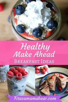 Easy, healthy, make ahead breakfasts for busy moms, recipes, Overnight oats, chia pudding, pancakes, eggs