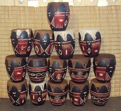Africano Zulu Mini tambor