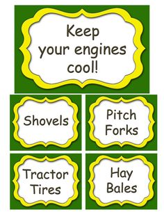 John Deere Birthday party food labels on Etsy, $3.99