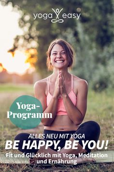 """Alles neu mit Yoga 🧘♂ Komm mit auf eine 14-tägige Reise und hilf dir selbst, innerlich und äußerlich zu deinem gesündesten & glücklichsten Ich zu finden! Unser Rundum-Programm """"Alles neu mit Yoga: Be happy, be you"""" stärkt deinen Körper und beruhigt deinen Geist. Und unsere Ernährungstips sorgen dafür, dass beide – Körper und Geist – optimal versorgt sind. Lust bekommen? Anbei findest du einen 7 Tage Gratiszugang – viel Freude bei deiner Transformation! Yoga Meditation, Yoga Kunst, Easy Yoga, Yoga Video, Online Yoga, Fitness Workouts, Conte, Health Fitness, Challenges"""