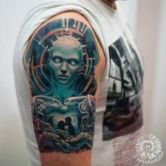 Android afp. Healed work.  #varlakovtattoo #tattoo #tattoos #biomechanicaltattoo #biomechtattoo #biomech #afp #trancemusic #trancemusicfestival #tattooart #bodyart #tattooartist