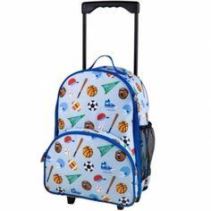 72b0f34b59 Wildkin Olive Kids Game On Rolling Luggage - Blue