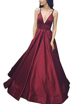 957d7abe308 online shopping for Yangprom Long Spaghetti Straps Deep V-Neck A-Line Prom  Dress With Pockets from top store. See new offer for Yangprom Long  Spaghetti ...