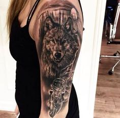 Dreamcatcher and wolf