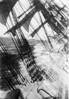 View from an unidentified sailing ship during a storm at Cape Horn, between 1885 and 1954 Stürmische See, Sea Storm, Old Sailing Ships, Wooden Ship, Sail Away, Tall Ships, Water Crafts, Lighthouse, Adventure