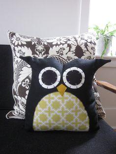 Owl Pillow  custom order by hilarycosgrove on Etsy