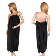 Miss Elaine Nightgown Vtg Pleated Large Soft Nylon Satin Black Lace Lingerie  #MissElaine #Nightgown #Pleated #SoftNylon #Satin #BlackLaceLingerie #Lingerie #MissElaineNightgown #SomeLikeItUsed